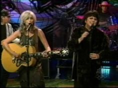 """Emmylou Harris & Linda Ronstadt performing the Jackson Browne song """"For A Dancer"""" - love it..."""