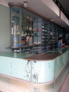 Art Deco Pharmacy Santa Clara, Cuba #ArtDeco #Cuba
