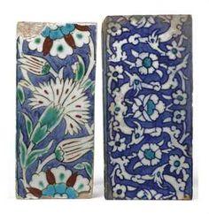 Two Turkish Iznik tiles