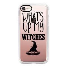 What's UP My Witches Black - iPhone 7 Case, iPhone 7 Plus Case, iPhone... ($40) ❤ liked on Polyvore featuring accessories, tech accessories, iphone case, iphone cases, iphone cover case, apple iphone cases and iphone hard case