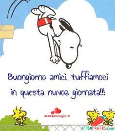 Immagini Belle Di Buongiorno - Pocopagare.com Good Day, Good Morning, Peanuts Snoopy, Good Mood, Smiley, Cartoon, My Love, Funny, Frases