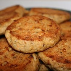 Baked Salmon Patties summer version of burgers for veggie people