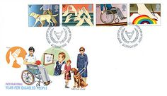 GREAT BRITAIN STAMP ELIZABETH 11 FIRST DAY COVER YEAR OF DISABLED PEOPLE 1981