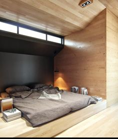 einrichtungsideen für schlafzimmer holzwände