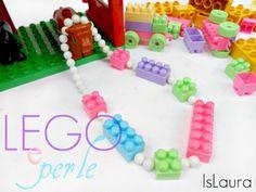 collana di lego le perle bianche, come forare i Lego