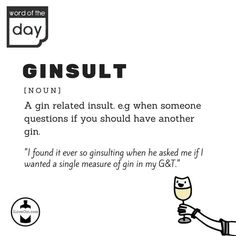 Like @ILoveGindotcom on Facebook and follow us on Instagram for more! Word Of The Day, When Someone, Gin, Words, Memes, Facebook, Drinks, Instagram, Drinking