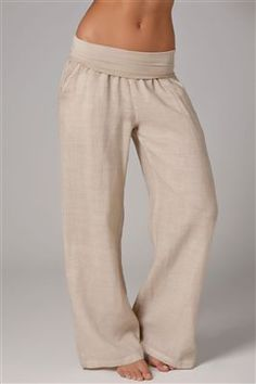 yoga sweats - perfect for lounging and you won't have to pull them up all the time like sweatpants!