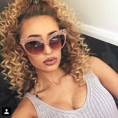 Isn't she just beautiful? LuLu Trixabelle wearing the MIX's famous Audrey sunnies.