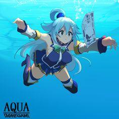 Anime Meme, Konosuba Anime, Kawaii Anime Girl, Anime Art Girl, Konosuba Wallpaper, Aqua Konosuba, Animes Yandere, Manga Pictures, Animes Wallpapers