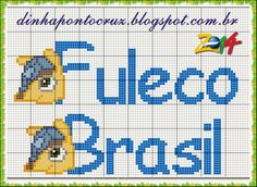 Salve o monograma completo aqui!: http://dinhapontocruz.blogspot.com.br/2014/05/fuleco-grafico-e-monograma-em-ponto-cruz.html
