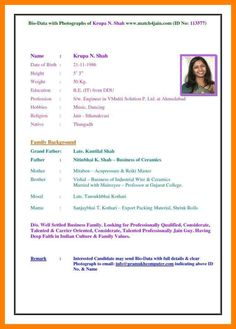 image result for biodata format for marriage word file in 2018