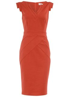Orange ponte sheath dress  Price: $55.00 by Dorothy Perkins  (and totally fits the work dress code!)