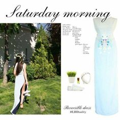 Saturday morning #ReversibleDress Reversible Dress, Saturday Morning, Dresses, Gowns, Dress, Vestidos, Gown, Clothing, The Dress