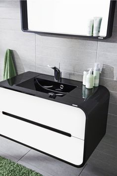- A sink cabinet for courageous and personal decoration. Design with strong colors and smooth lines creates the feeling of the Smooth Lines, Retro Fashion, Sink, Strong, Cabinet, Bathroom, Decoration, Colors, Design