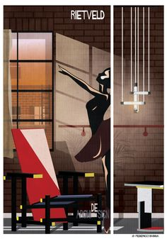 "Illustrations by Federico Babina offers us ""a journey into the universe of design"""