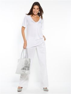 Tee-shirt col V, dos en macramé, extensible-Femme-BALSAMIK   balsamik.fr