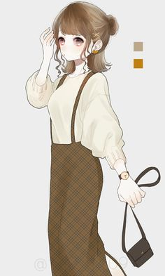 Manga Girl, Anime Art Girl, Anime Oc, Manga Anime, Anime Style, Female Character Design, Digital Art Girl, Beautiful Anime Girl, Kawaii Girl