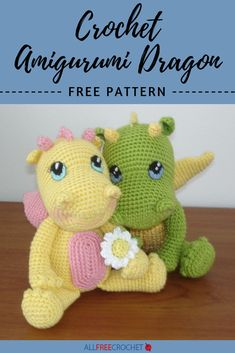 This awesome dragon crochet pattern is one of the best amigurumi projects around. Our Crochet Amigurumi Dragon is a free pattern with lots of detail. Crochet Dragon Pattern, Crochet Amigurumi Free Patterns, Crochet Animal Patterns, All Free Crochet, Stuffed Animal Patterns, Cute Crochet, Crochet Crafts, Crochet Dolls, Crochet Animals