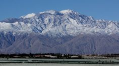 Mount San Jacinto, CA with Snow