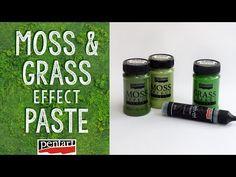 Moha és pázsit effekt paszta // Moss and Grass effect paste Moss Grass, Decoupage, Mixed Media, Youtube, Fairy, Tools, House, Plant Pots, Manualidades