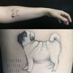 pug is love tattoo kyra bak • be your tattoo studio Budapest