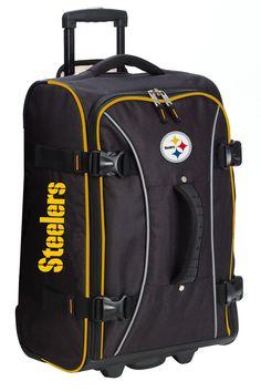"""Football, football, football! NFL Sport Luggage Pittsburgh Steelers NFL 29"""" Wheeling Hybrid Luggage"""