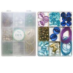Perlen und Charms Plastik Box Kit Blau (1) - Kit erhältlich in 4 x farben. Perfekt für Kinder und Einsteiger Perlenfädler. Nur bei www.i-perlen.de