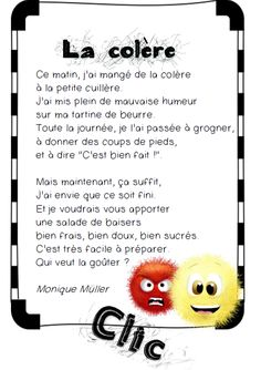 This poetry by Monique Müller allows to work the intonation and gives the students the opportunity to stage themselves. She gives them a smile and helps them to verbalize their emotions: The humble - French Poems, Brain Gym, French Language Learning, Emotion, French Lessons, Sweet Words, Kids Songs, Learn French, Positive Attitude