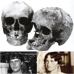 The Final Chapter ~ Skulls of the Grand Duchesses Anastasia and Olga Nikolaevna Romanova of Russia.