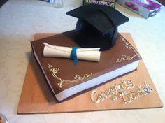 Backen mit einer Prise Liebe: Graduation fondant cake - Torte zum Abschluss!