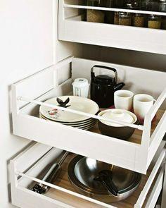 schubladen küche einräumen teller aufbewahrung   ev   pinterest ... - Schubladen Küche
