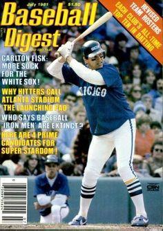 baseball digest covers | Baseball Digest Cover Carlton Fisk stance