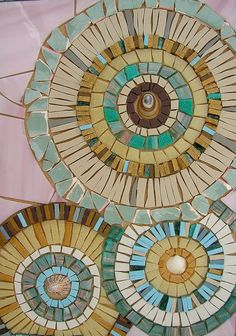 Ceramic Blue Circles Mosaic - Blank Greetings Card on Etsy, $4.93 AUD