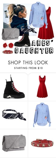 """""""Ares' daughter for one day"""" by janananana ❤ liked on Polyvore featuring Off-White, Jigsaw, RED Valentino and Bling Jewelry"""