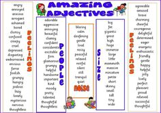 Learn more about amazing adjectives.  #language #knowledge #english