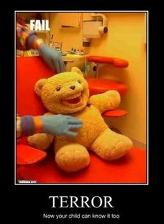 That's the scariest teddy bear ever
