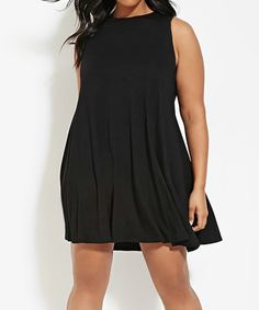 fbada94f425 Another great find on  zulily! Black Sleeveless Shift Dress - Plus   zulilyfinds Pear