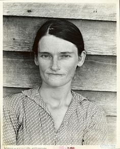 Allie Mae Burroughs, wife of cotton sharecropper. Hale County, Alabama. Photo by Walker Evans. Date Created: 1935 – 1936 (approximate). ADD NY pub.