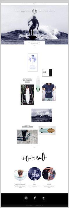Salt Surf Web Design by Rafael Nadai | Fivestar Branding – Design and Branding Agency & Inspiration Gallery
