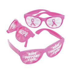 A fun Breast Cancer Awareness accessory for pink ribbon events. With a message that can't be missed, these novelty glasses make showing your support fun!