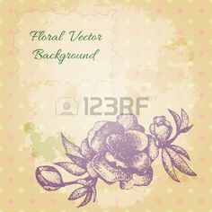 vintage background with a beautiful hand drawn cherry blossom. Stock Vector - 22243172
