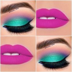 Valentine's day Makeup tips are here. From Smokey Eyes with red lips to Berry red lips to Pink LIps to Ombre lips to unique eyeshadow combinations are here. Makeup Eye Looks, Beautiful Eye Makeup, Cute Makeup, Pretty Makeup, Eyeshadow Makeup, Eyeliner, Hair Makeup, Makeup Inspo, Makeup Inspiration