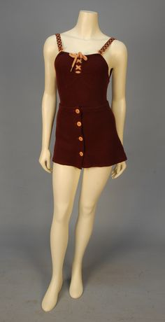 Bathing Suit and Skirt, ca. 1930s