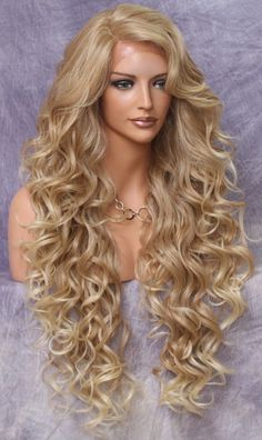 Beads & Jewelry Making Lovely Hot Quality Ombre Darkest Brown Mix Golden Blonde Wavy Small Lace Front Long Wig Jewelry & Accessories