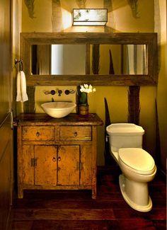 decoracion de baños pequeños rusticos (4)
