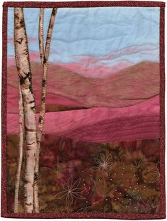 Another beautiful art quilt for AAQI by Sherrie Whitford, an exquisite landscape artist