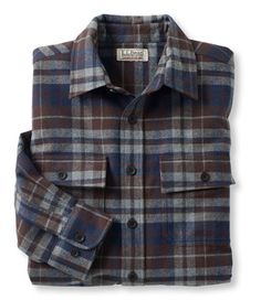 Bean's Chamois Cloth Shirt, Traditional Fit Plaid: Flannel, Chamois and Lined Mens Work Shirts, Mens Flannel Shirt, Casual Shirts, Plaid Flannel, Flannel Jacket, Men Shirts, Shirt Men, Mens Outdoor Fashion, Mens Fashion
