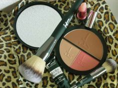 This blush creates a natural flush like a youthful skin..brushes are worth the price of admission.  <3 the bronzer and illuminator!