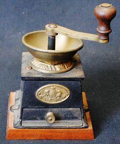T. & C. Clark Coffee grinder. Marked, Circa 1800's.