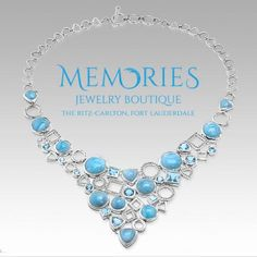 Looking for the rare #larimar stone? #Marahlago has got you covered! #MemoriesJewelryBoutique #ritzcarlton #fortlauderdale #beach #style #fashion #carribean #gemstone #rare #trend #jewlery #necklace #makingmemories
